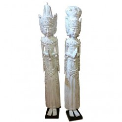 Figuras Rama Shinta tallado en madera