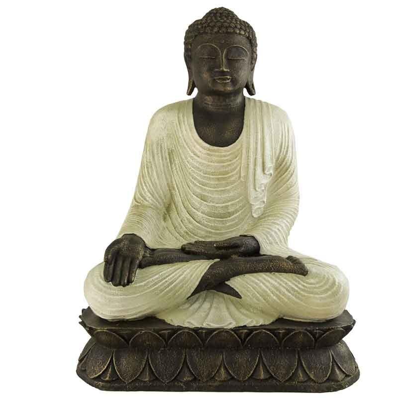 Figura buda jardin de piedra y fibra - Buda jardin ...