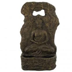 Fuente de buda meditando de piedra