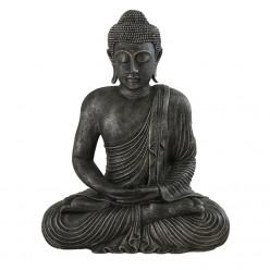 Figura budista de piedra en color plata