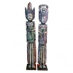 Figuras Rama Shinta de madera