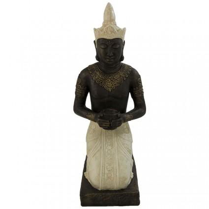 Figura buda tailandés de piedra y fibra