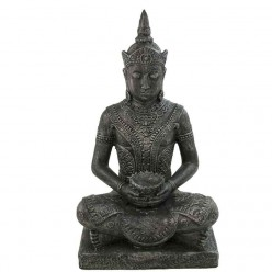 Buda tailandés de piedra en color plata