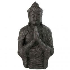 Escultura de buda rezando de piedra