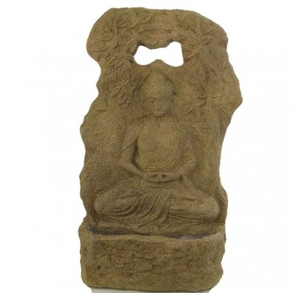 Fuente buda tailandés en acabado fósil