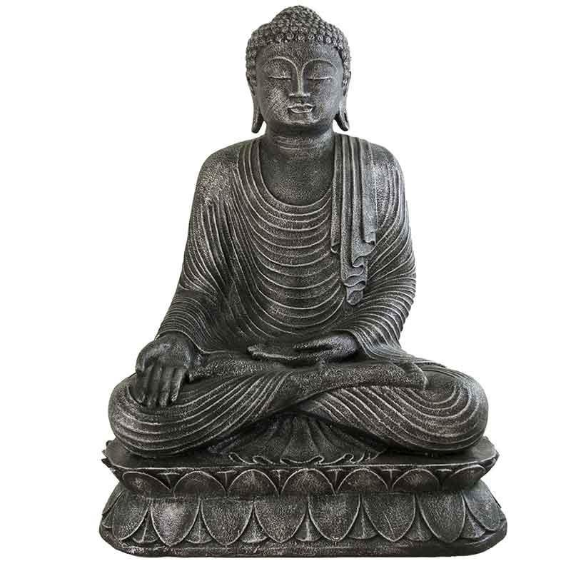 Buda jardin de piedra en color plata - Buda jardin ...