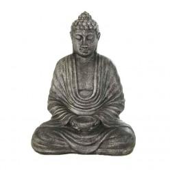 Estatua buda meditando en color plata
