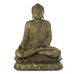 Figura de buda meditando en color oro