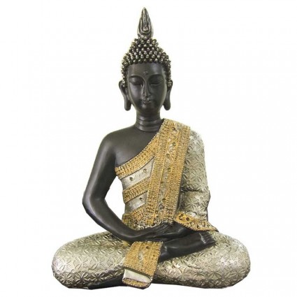 Estatua de buda iluminado de resina