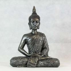 Figura de buda iluminado de resina