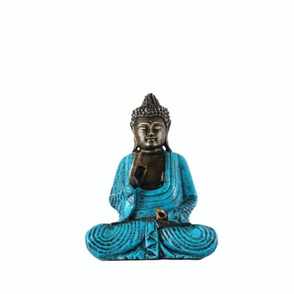 Buda thai meditando con túnica turquesa