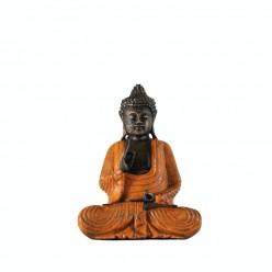 Buda meditando con vestimenta naranja