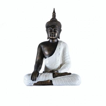 Buda thai con vestimenta color blanco