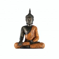 Buda thai con vestimenta color naranja