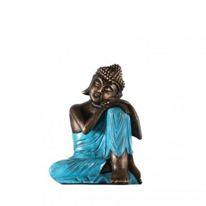 Figura buda descansando color turquesa