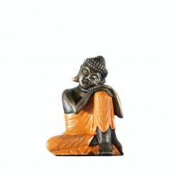 Figura buda descansando color naranja