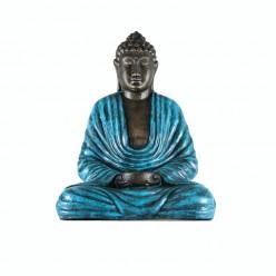 Figura de buda con cuenco color turquesa
