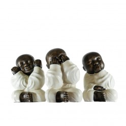 Monjes Shaolin vestidos de blanco - 3 Unidades