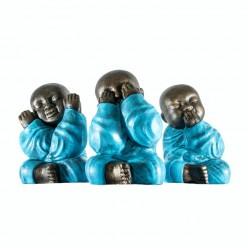Monjes Shaolin vestidos de turquesa - 3 Unidades