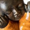 Monjes Shaolin vestidos de naranja - 3 Unidades