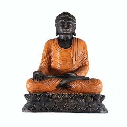 Estatua buda mudra varada color naranja