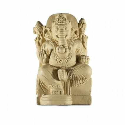 Estatua de Ganesha en color beige