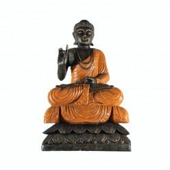 Buda thai bendiciendo con túnica naranja