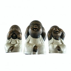 Monjes Shaolin color blanco - Pack 3