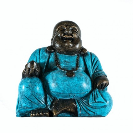 Buda de la suerte en color turquesa