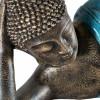 Buda recostado en color turquesa