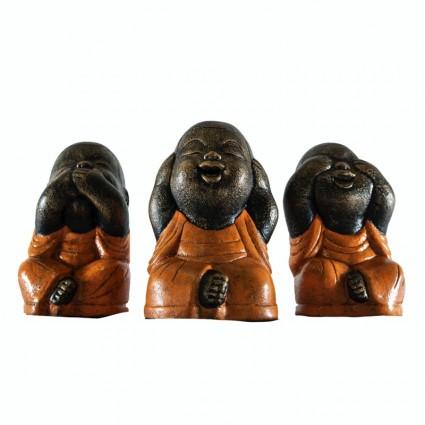 Conjunto monjes Shaolin color naranja - Pack 3