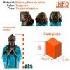 Conjunto 3 monjes Shaolin color turquesa - Pack 3