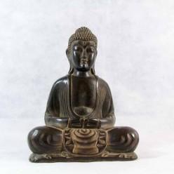 Figura de buda meditando de resina