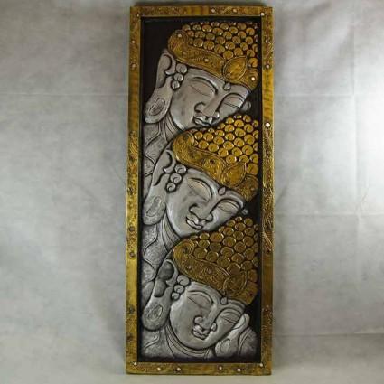Cuadro de Buda tallado en madera