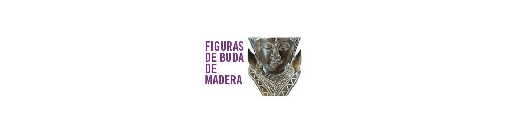 Figuras de Buda de madera