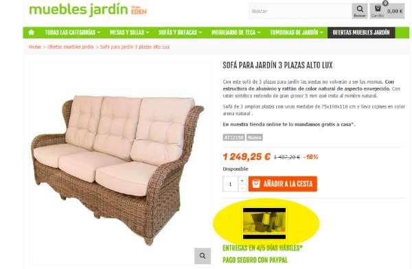 Te lo ense amos todo de nuestros productos blog for Eden del mueble